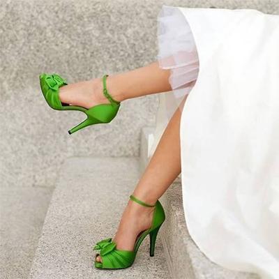 zapatos de novia de color verde | noviasenboda